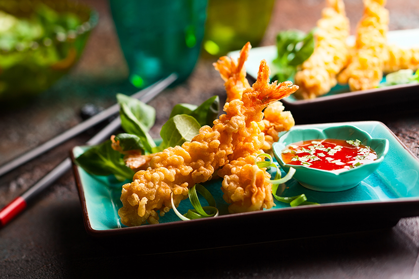 Tempura Shrimps mit Dip
