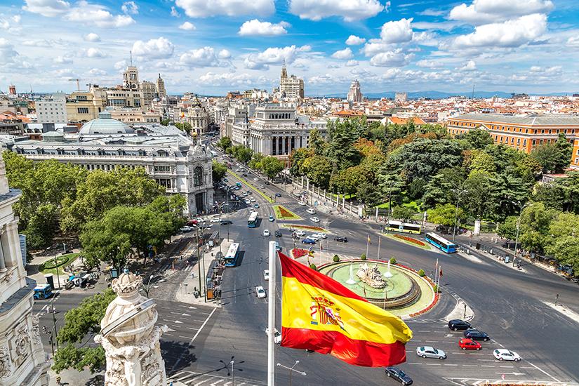 Blick auf die Hauptstadt Madrid