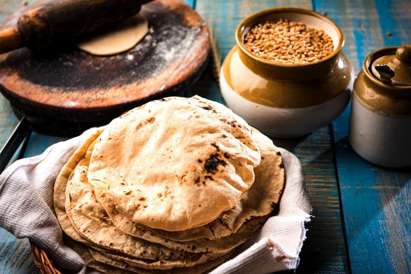 Chapati-Brot-Indisches-Essen