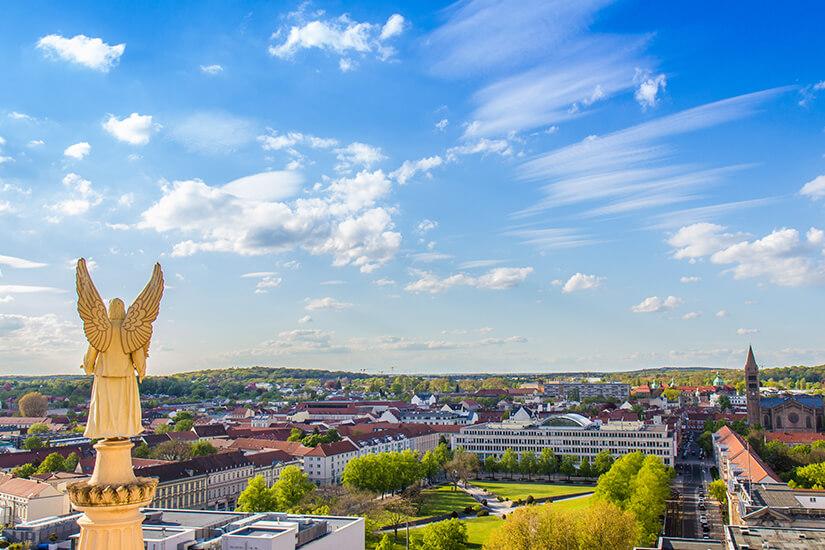 Blick auf Potsdam im Sommer