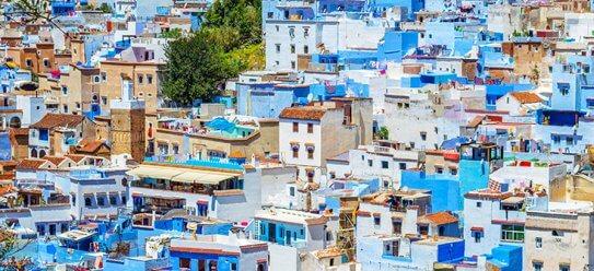 Blaue Stadt Chefchaouen in Marokko