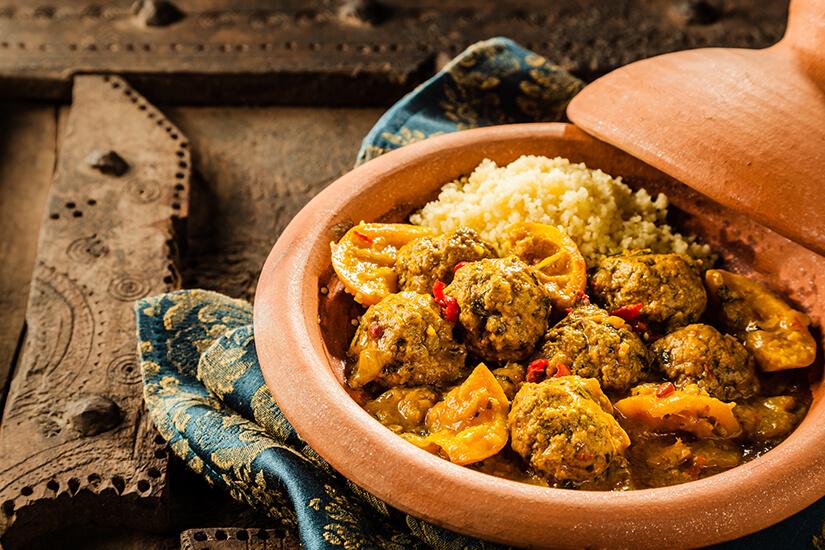 Die Tajine ist ein traditionelles Gericht
