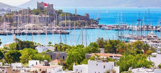 Bodrum – weiße Stadt in der Türkei