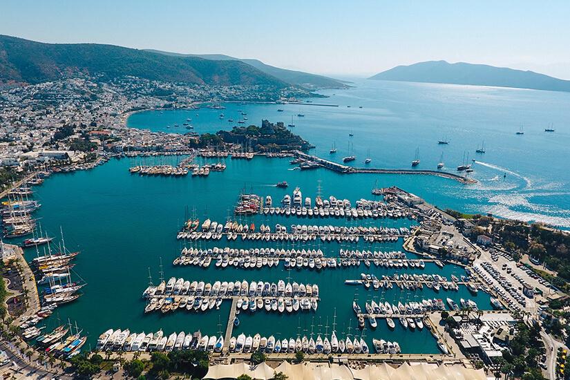 Der Yachthafen von Bodrum