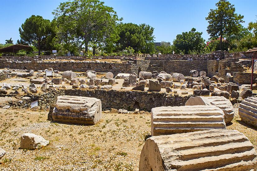 Ruinen des Mausoleums von Halikarnassus