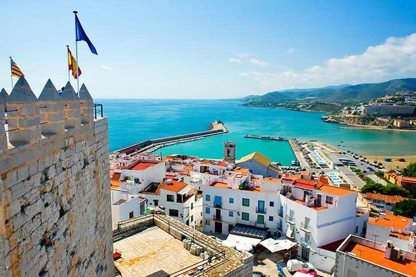 Blick auf den Hafen von Valencia