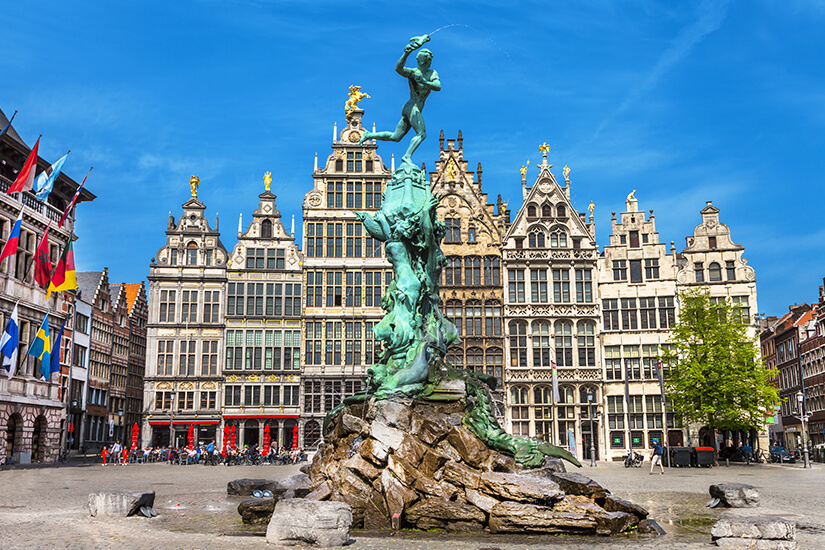 Traditional flaemische Architektur in Antwerpen