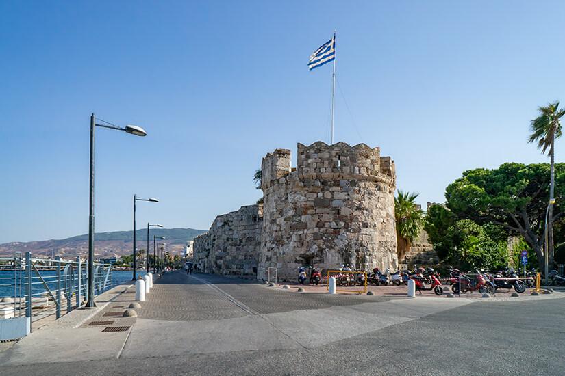 Das Neratzia-Kastell in Kos Stadt