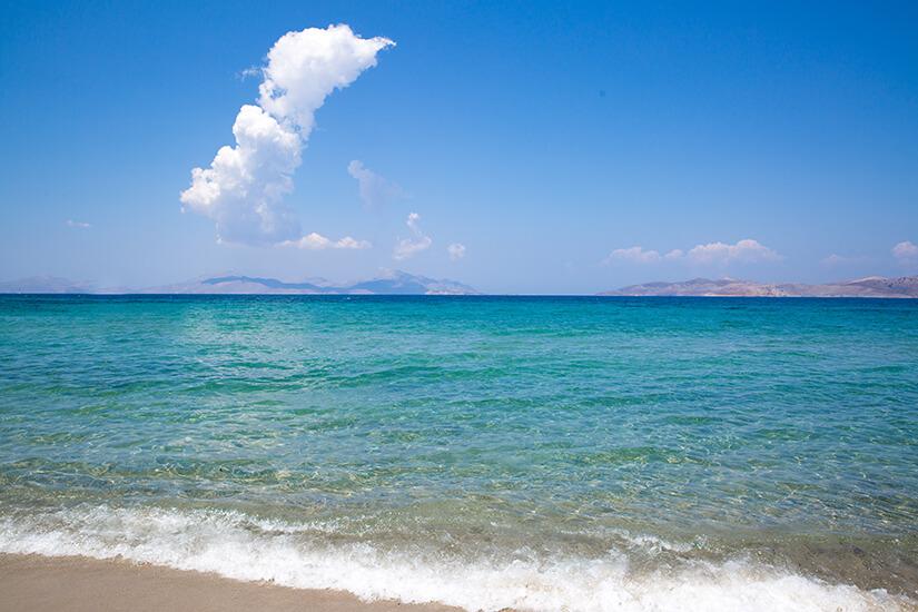 Feiner Sandstrand am Marmari Beach