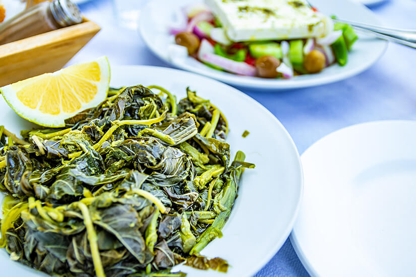 Chorta ist eine typische Speise auf Kos