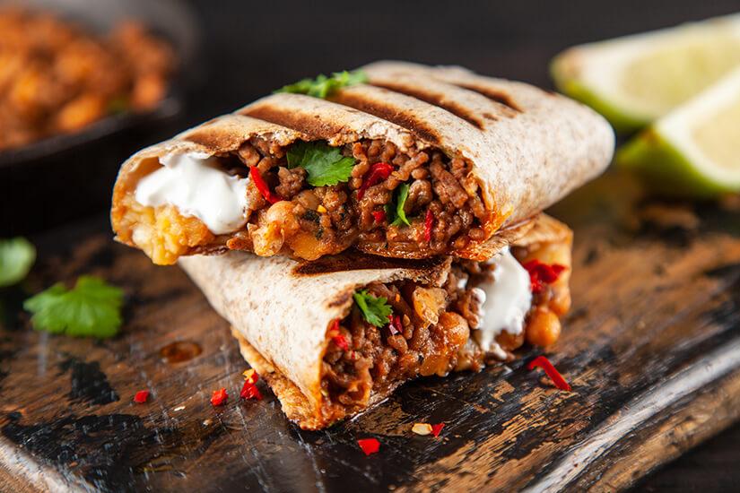 Burritos kommen aus Mexiko
