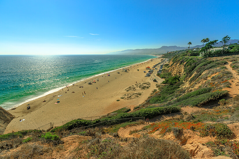 Zuma Beach bei Malibu in Kalifornien