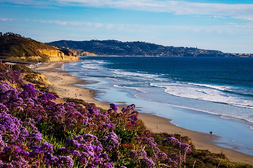 Strand bei San Diego in Kalifornien