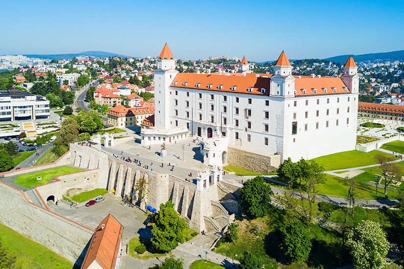 Eindrucksvolle Burg von Bratislava