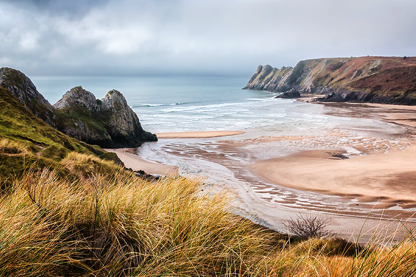 Three Cliffs Bay in Wales