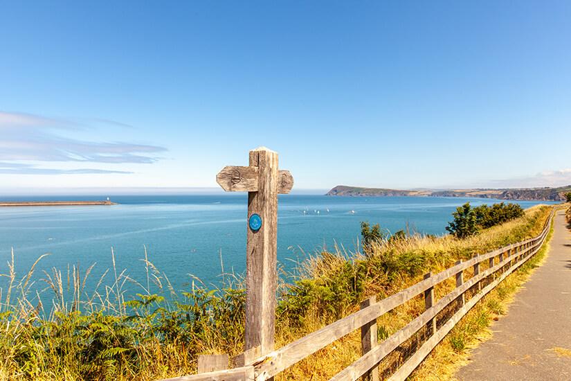 Unterwegs auf dem Wales Coast Path