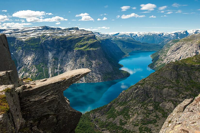 Felsspitze Trolltunga in Norwegen