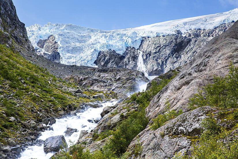 Gletscherlandschaft im Nationalpark Folgefonna