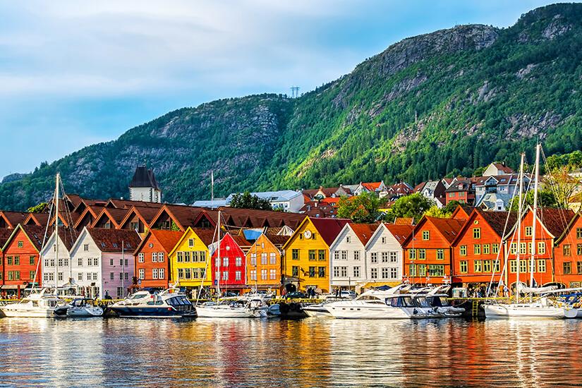 Bunte Haeuser in Bergen