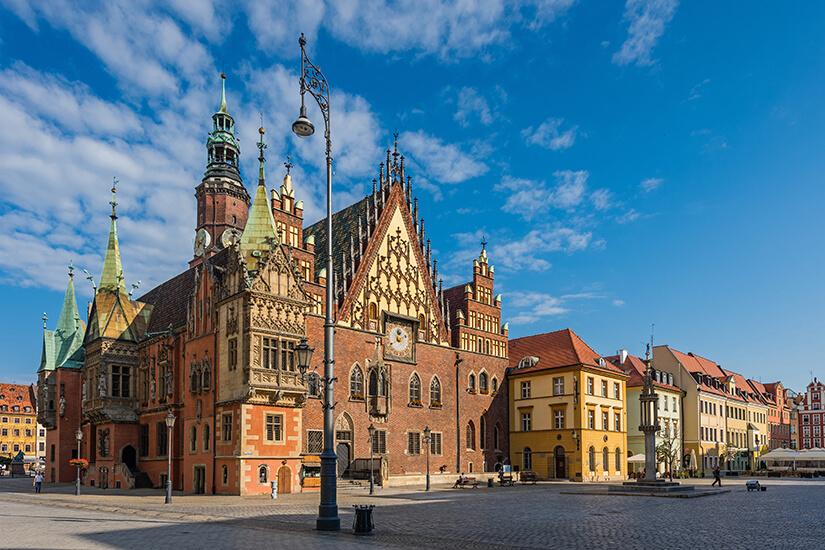 Das Alte Rathaus in Breslau
