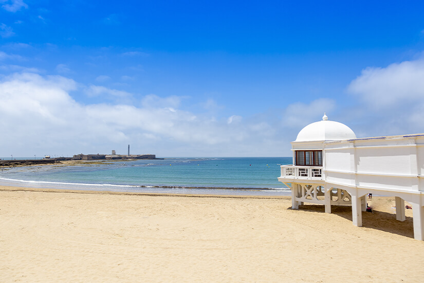 Playa la Caleta im Zentrum von Cadiz
