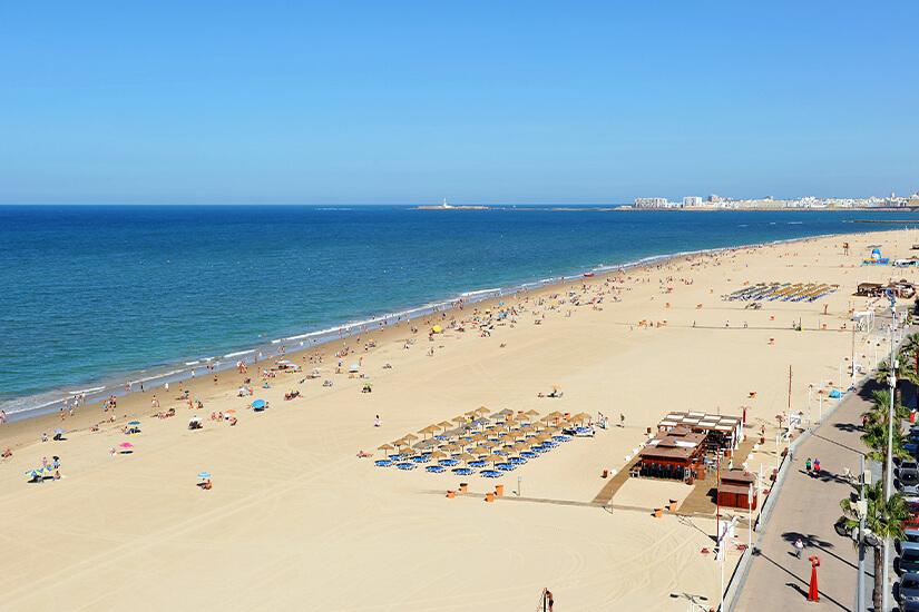 Playa Victoria in Cadiz