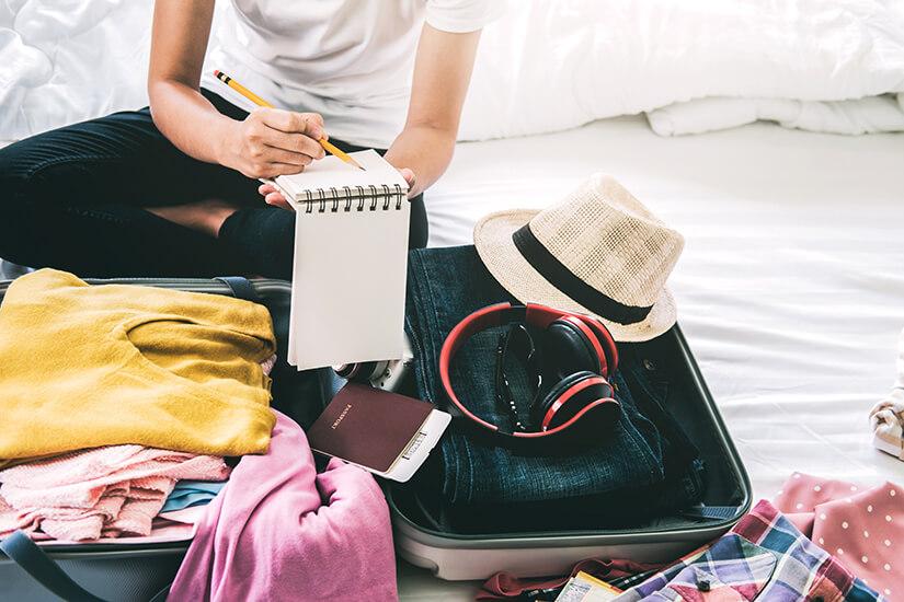 Checkliste beim Packen