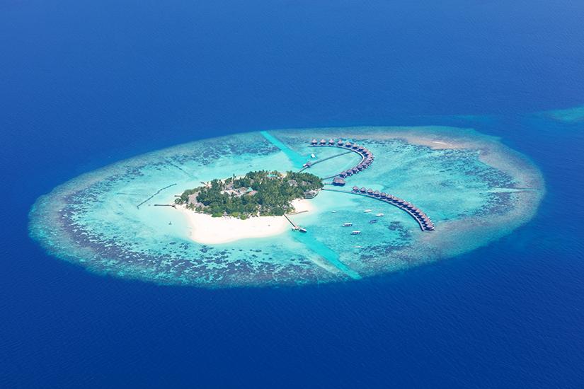 Raa Atoll aus der Luft