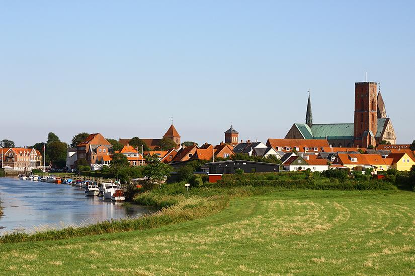 Wikingerstadt Ribe in Daenemark