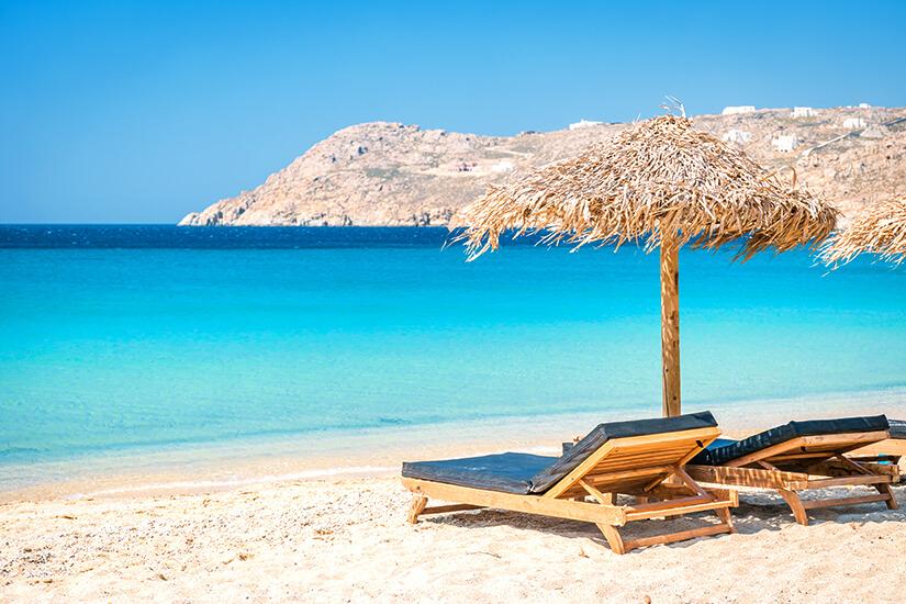 Elia Beach auf Mykonos