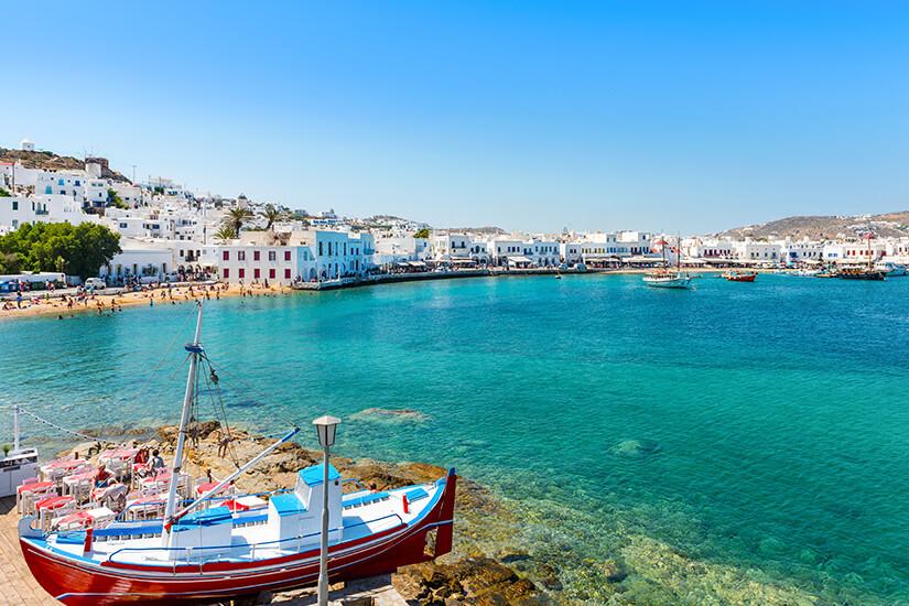 Alter Hafen von Mykonos Stadt