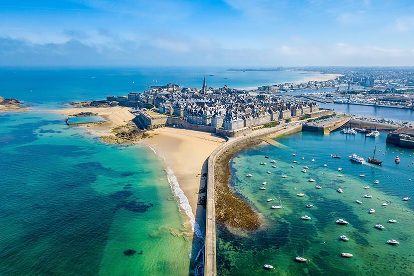 Saint Malo aus der Luft