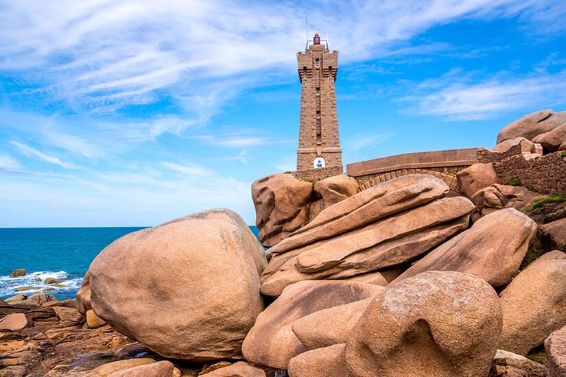 Granit-Kueste in der Bretagne