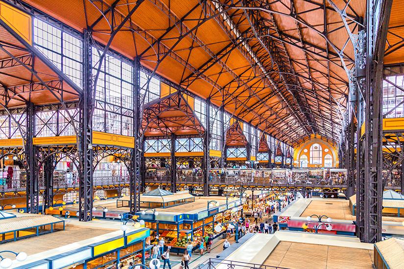 Sehenswerte Markthalle in Budapest