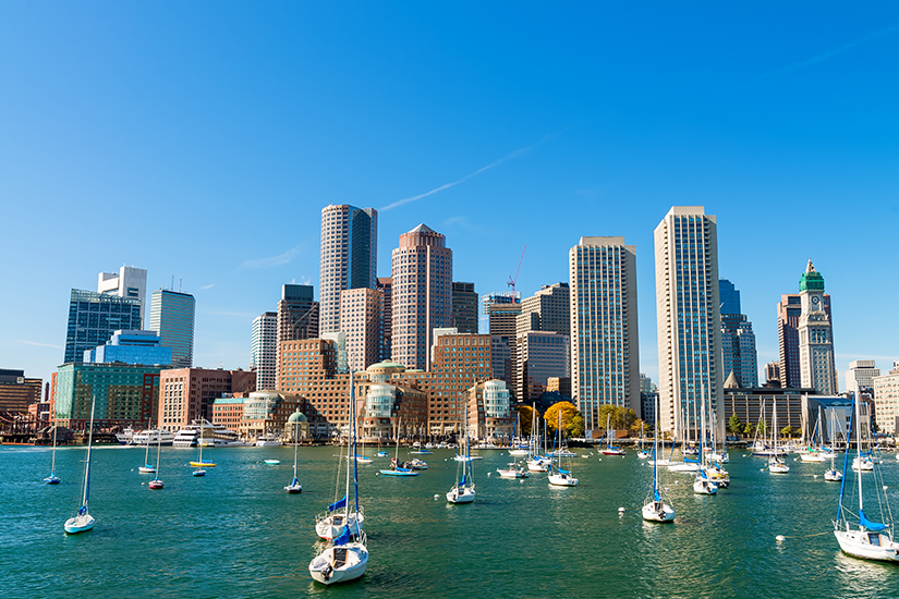 Segelboote in der Bostoner Bucht
