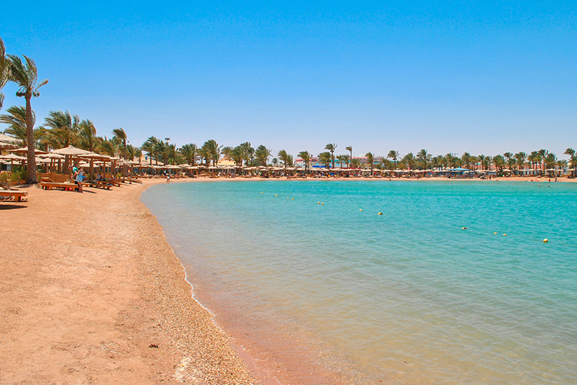 Sandstrand in Hurghada