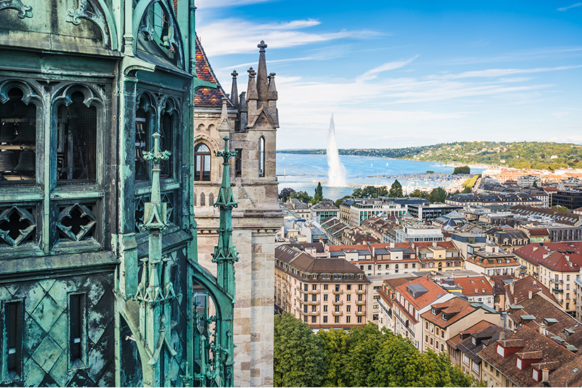 Blick auf die Genfer Altstadt