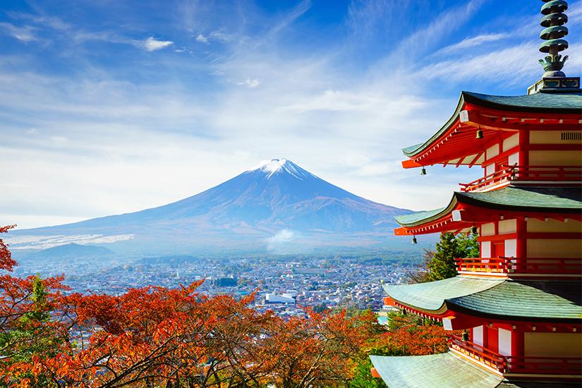 Mount Fuji und Chureito Pagoda