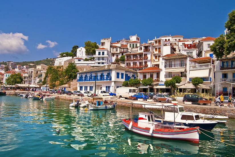 Hafen auf der Insel Skiathos