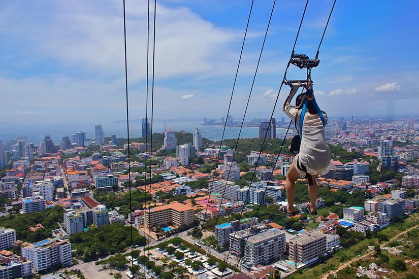 Seilbahn im Pattaya Park Tower