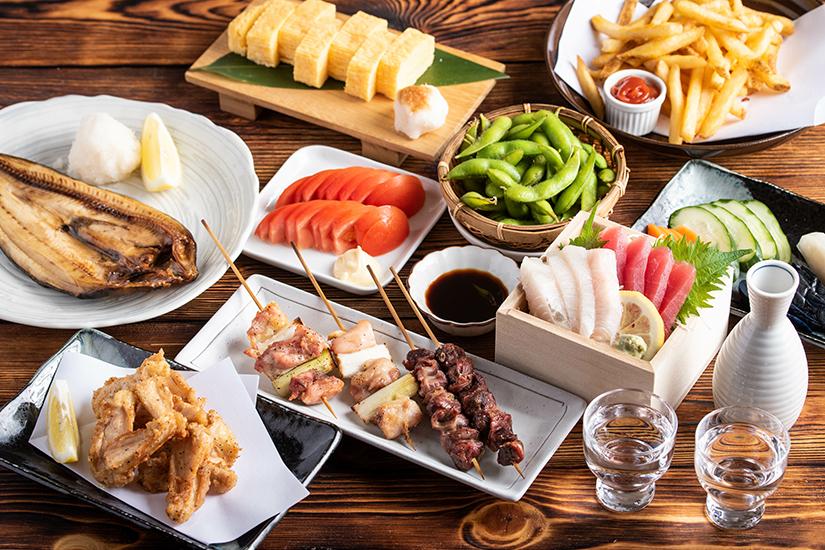 Auswahl japanisches Essen