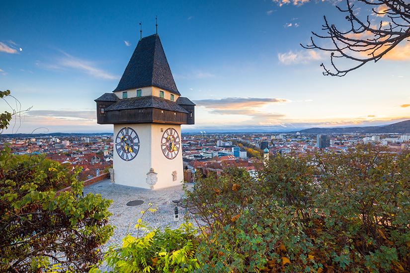 Grazer Uhrturm auf dem Schlossberg