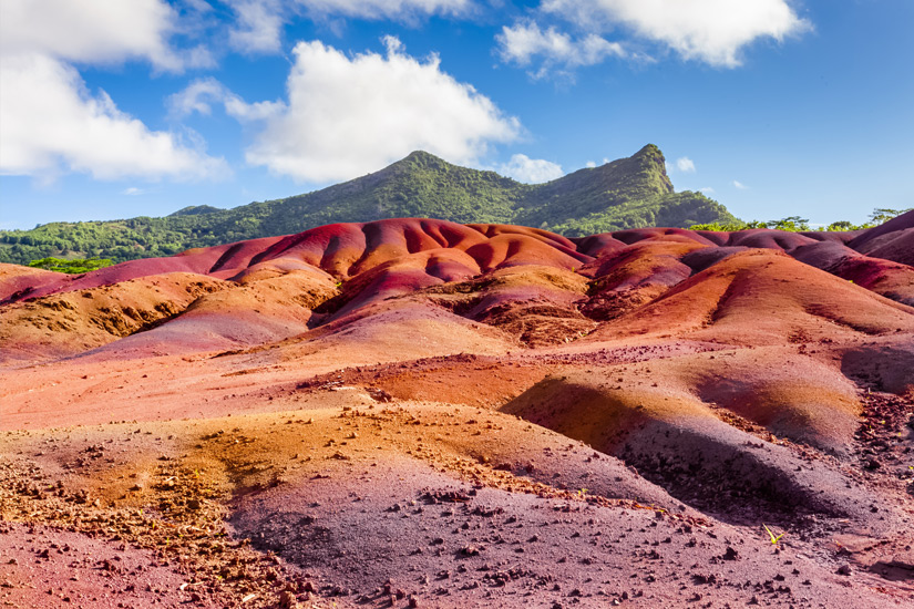 Farbige Erde in Chamarel