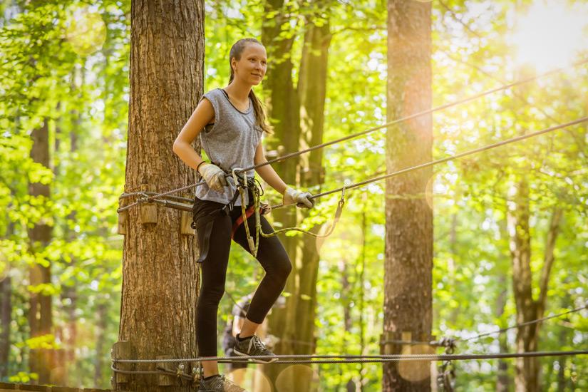 Aktiv im Kletterwald Sayn
