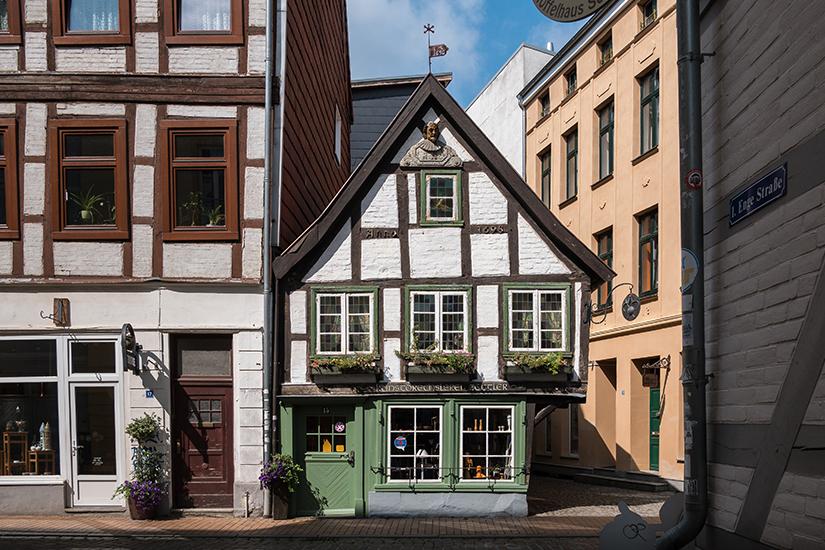 Historische Fachwerkhaeuser in Schwerin
