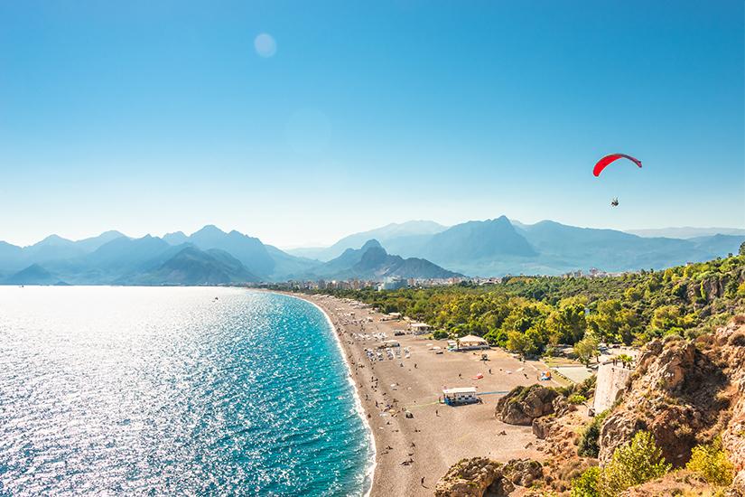 Blick auf die Tuerkische Riviera vor Antalya