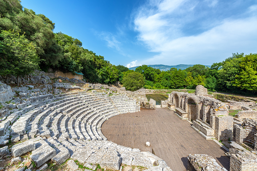 Antikes Amphitheater von Butrint