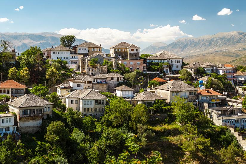 Altstadt von Gjirokaster in Albanien