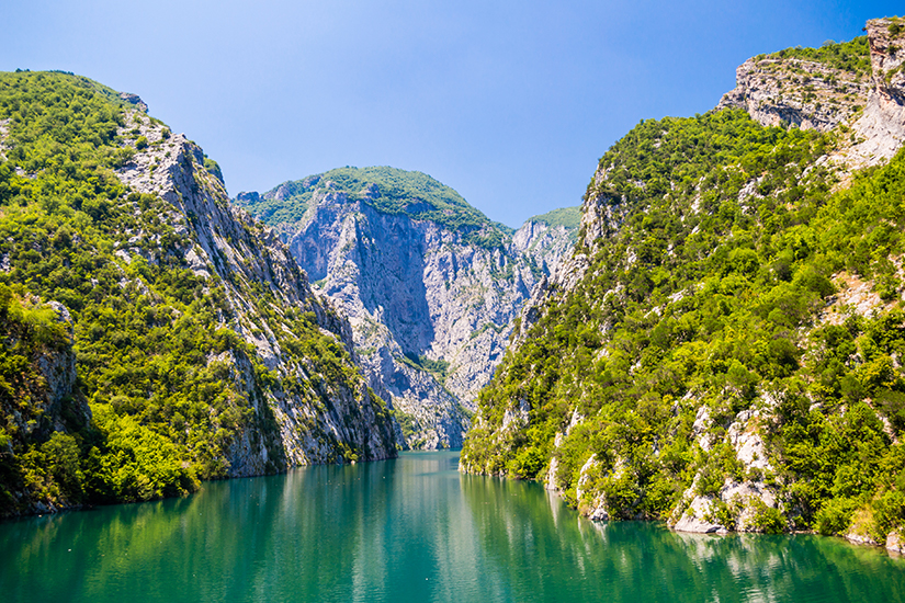 Koman Stausee in Albanien