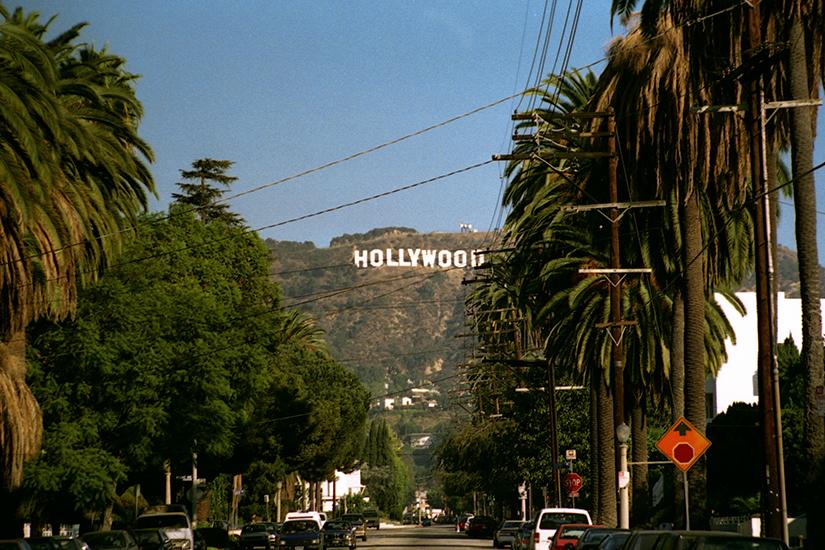 Blick auf das Hollywood Sign